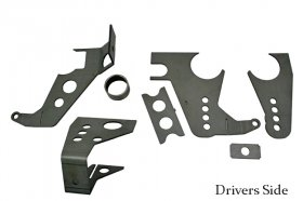 82-02 Camaro Sportsman Mild Steel Housing Brackets Complete Kit