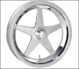 Weld Aluma Star 15 x 3.5 Strange Spindle Mount Wheel (Ea.)