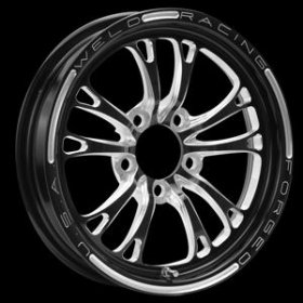 Weld V-Series 2.0 15'' x 10'' Black Wheel (BC- 5 x 4.5)