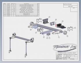 "Custom Chassis Horizontal Mounted 1-3/8"" Anti-Roll Bar"