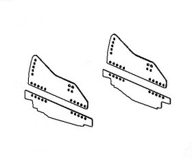 82-02 Camaro Kirkey Weld-In Seat Brackets (Driver Side)