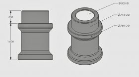 "1.000"" Step Bushing 1/2"" I.D."