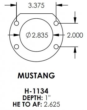 Mustang 2.835 Bearing Housing Ends