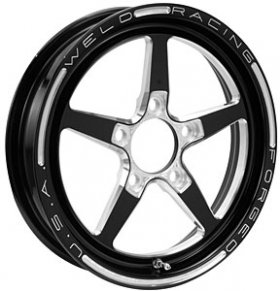 Weld Aluma Star 2.0 Black Anodized 15x3.5 Wheel (Ea)