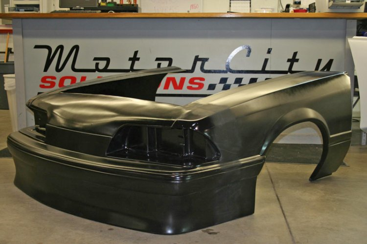 87-93 Mustang Outlaw 1 Piece Front End Fiberglass/Carbon [110046