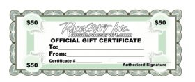 Racecraft Inc $50 Dollar Gift Certificate