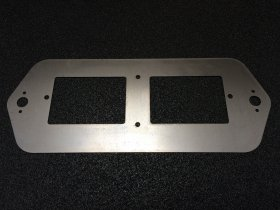 UDX Racepak Dash Panel Mount Plate