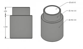 "1.000"" Step Bushing 5/8"" I.D."