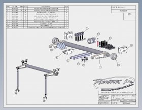 "Custom Chassis Vertical Mounted 1-3/8"" Anti-Roll Bar"