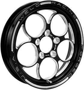 "Weld Magnum Drag 2.0 15"" x 3.5"" Black Anodized Wheel (Ea)"