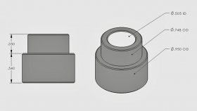 ".540"" Step Bushing 1/2"" I.D."