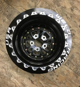 Rear Wheels Powder Coated Black