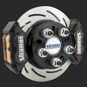 4 Piston Dual Caliper Stainless Brake Kit (Late Big Ford HE)