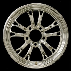 Weld V-Series Polished 1 Piece 15 x 3.5 Wheel- 5 x 4.5 B.C.