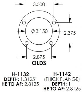 Olds 3.150 Bearing 3/8-24 Housing Ends