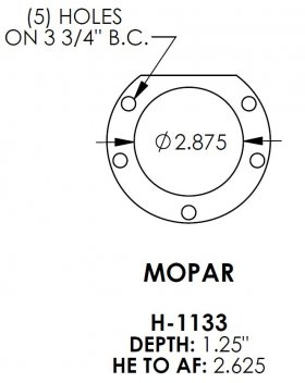 Mopar 2.875 Bearing Housing Ends