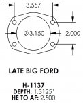 Late Big Ford 3.150 Bearing Housing Ends