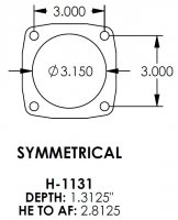 Symmetrical 3.150 Bearing, 3/8-24 Housing Ends