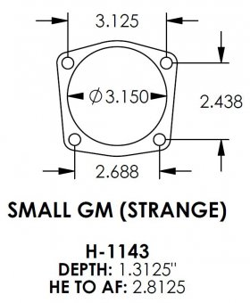 Small GM (Strange) 3.150 Bearing Housing Ends