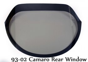 1982-2013 Camaro Lexan Drop In Rear Window (Choose Thickness)