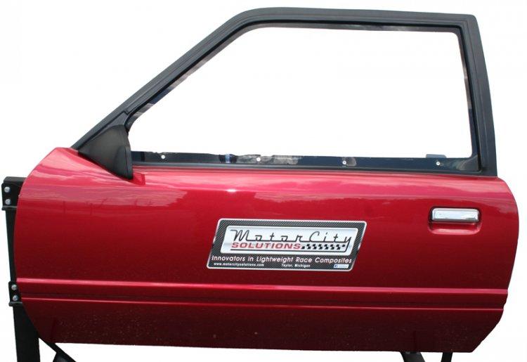1983-1993 Mustang Doors Fiberglass/Carbon (Pair) [110029