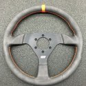 "MPI Contoured High Grip LW Aluminum 6 Bolt 13"" Steering Wheel"