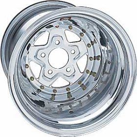 Weld Aluma Star 2.0 15'' x 10'' Polished Wheel (BC- 5 x 4.5)