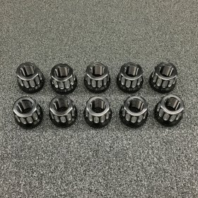 "5/8"" - 18 Black Double Cut Aluminum Rear Lug Nuts (Set of 10)"