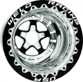 Weld Aluma Star 2.0 15'' x 10'' Black Wheel (BC- 5 x 4.5)