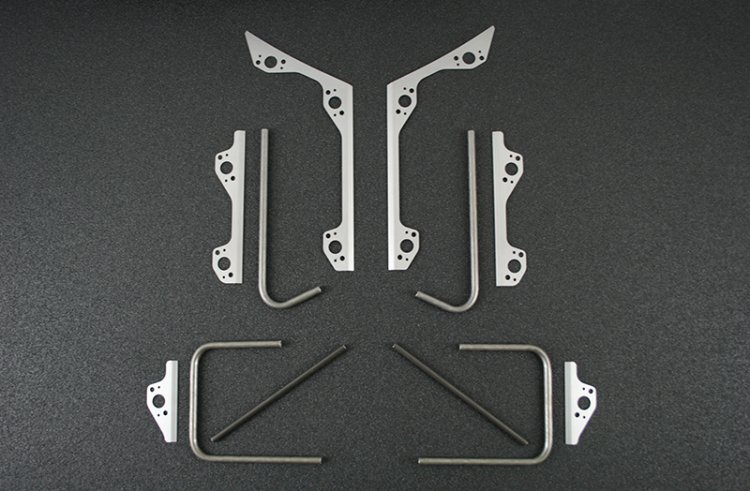79-93 Mustang One Piece Front End Mounting Kit - Back Half