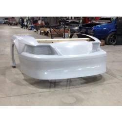 99 04 Mustang Outlaw 1 Piece Front End Fiberglass Carbon