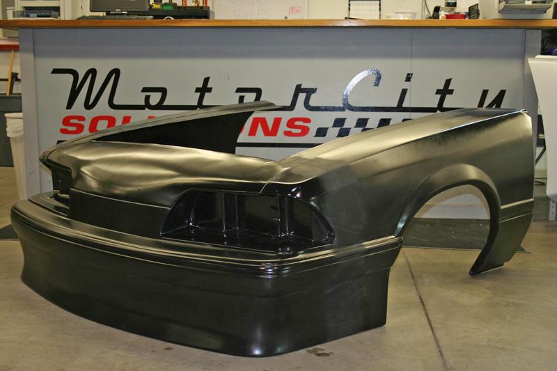 87 93 Mustang Outlaw 1 Piece Front End Fiberglass Carbon