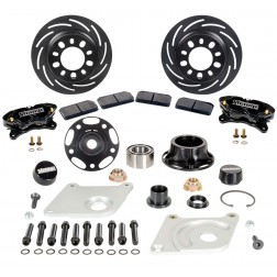 2005-2014 Mustang 4 Piston Floating Front Brake Kit w/ Hubs